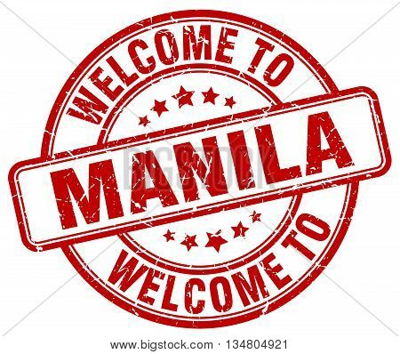 welcome to Manila stamp. welcome to Manila.