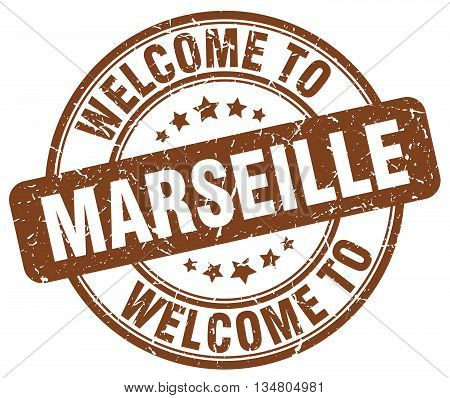 welcome to Marseille stamp. welcome to Marseille.