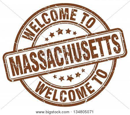 welcome to Massachusetts stamp. welcome to Massachusetts.