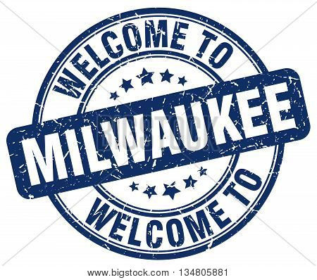 welcome to Milwaukee stamp. welcome to Milwaukee.