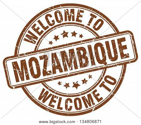 welcome to Mozambique stamp. welcome to Mozambique.