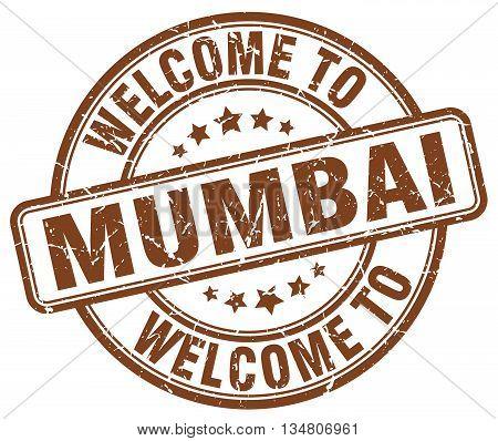 welcome to Mumbai stamp. welcome to Mumbai.
