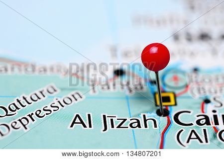Al Jizah pinned on a map of Egypt