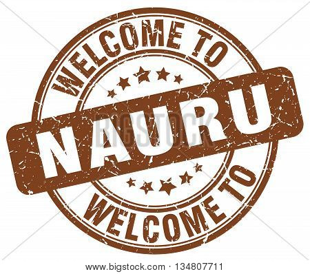 welcome to Nauru stamp. welcome to Nauru.
