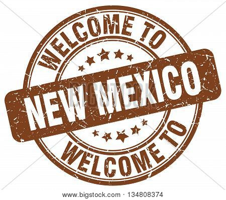 welcome to New Mexico stamp. welcome to New Mexico.