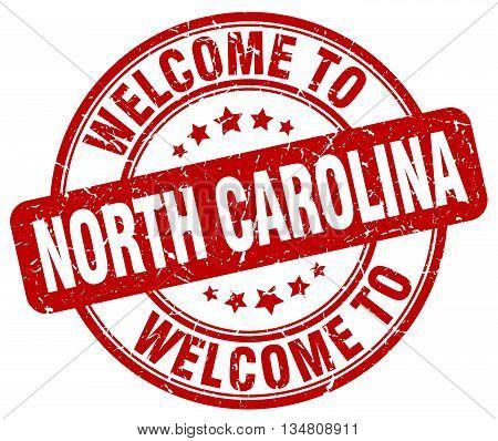 welcome to North Carolina stamp. welcome to North Carolina.