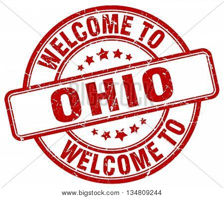 welcome to Ohio stamp. welcome to Ohio.