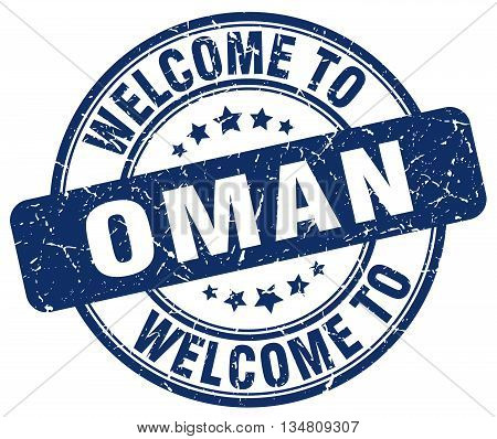 welcome to Oman stamp. welcome to Oman.