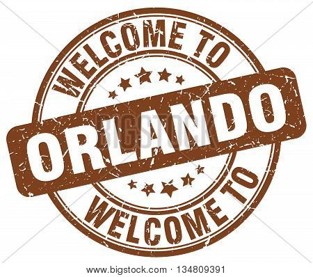welcome to Orlando stamp. welcome to Orlando.
