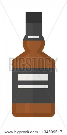 Alcoholic beverage vector illustration.