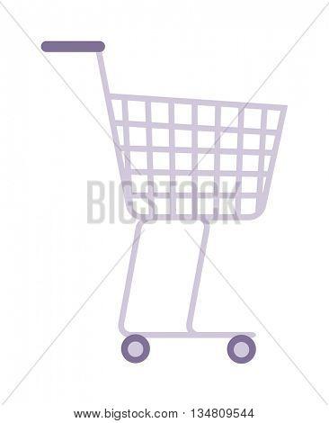 Shopping trolley cart vector illustration.