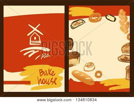 Set Of Illustration Of Hand Drawn Bread, Bun And Roll For Menu B