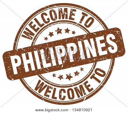 welcome to Philippines stamp. welcome to Philippines.