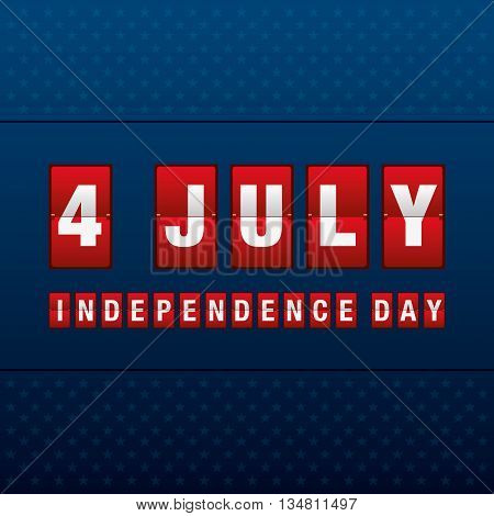 independence day 4 th july of mechanical scoreboard. happy independence day. vector illustration.