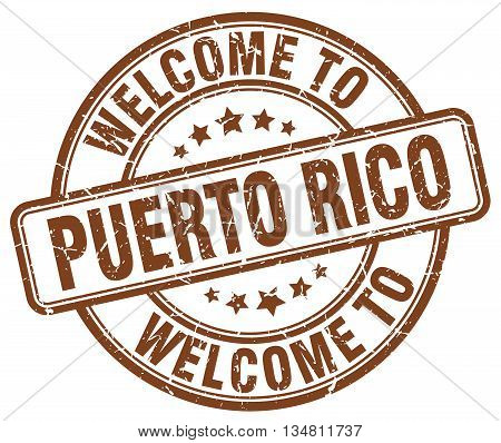 welcome to Puerto Rico stamp. welcome to Puerto Rico.