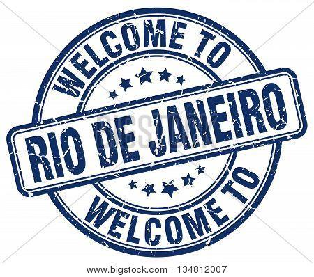 welcome to Rio De Janeiro stamp. welcome to Rio De Janeiro.