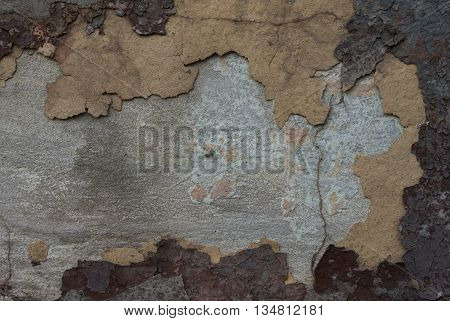 texture of old paint abstract background detail burgundy yellow