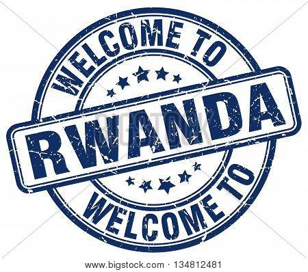 welcome to Rwanda stamp. welcome to Rwanda.