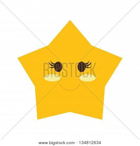 star concept represented by cartoon  icon over flat and isolated design