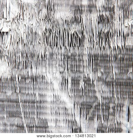 Stock background texture of damaged air conditioner fins.