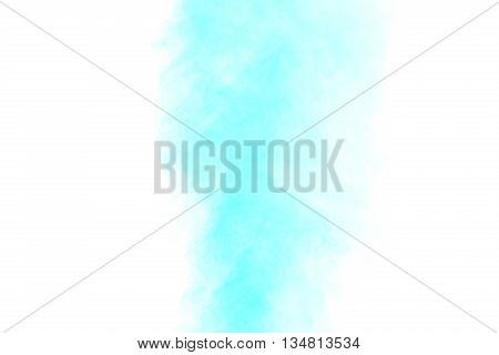 Abstract aquamarine water vapor on a white background. Texture. Design elements. Abstract art. Steam the humidifier. Macro shot.