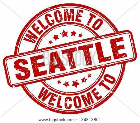welcome to Seattle stamp. welcome to Seattle.