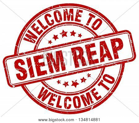 welcome to Siem Reap stamp. welcome to Siem Reap.