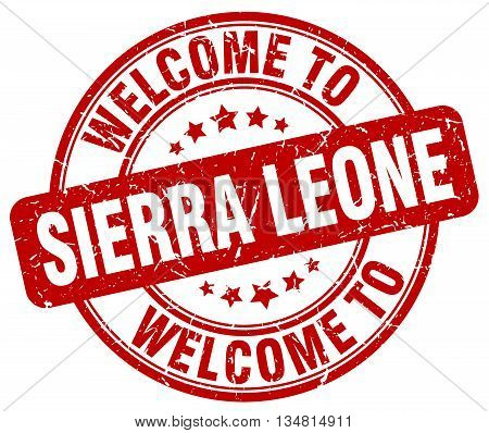 welcome to Sierra Leone stamp. welcome to Sierra Leone.