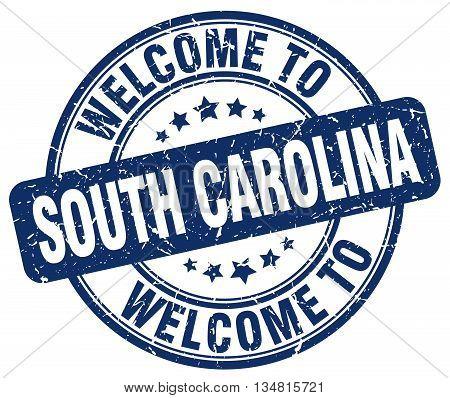 welcome to South Carolina stamp. welcome to South Carolina.