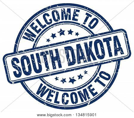 welcome to South Dakota stamp. welcome to South Dakota.