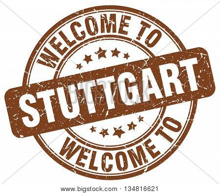 welcome to Stuttgart stamp. welcome to Stuttgart.