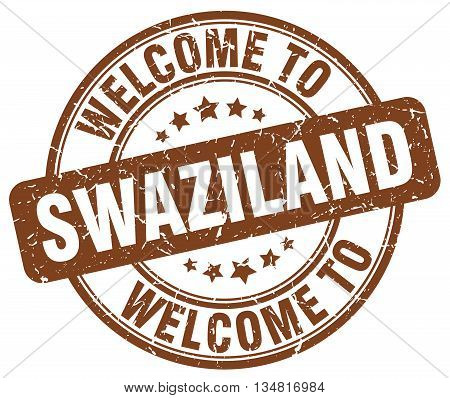 welcome to Swaziland stamp. welcome to Swaziland.