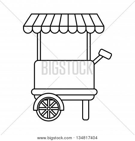 Fast and Street food concept represented by shop or place of commerce illustration, flat and isolated design