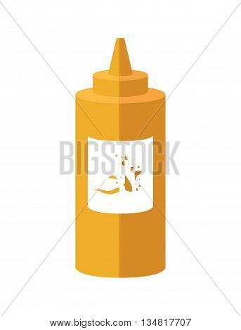 Fast and Street food concept represented by sauce illustration, flat and isolated design
