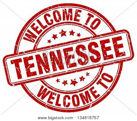 welcome to Tennessee stamp. welcome to Tennessee.