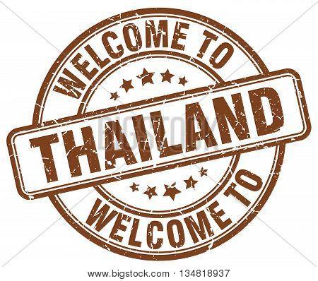 welcome to Thailand stamp. welcome to Thailand.