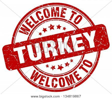 welcome to Turkey stamp. welcome to Turkey.