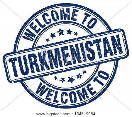 welcome to Turkmenistan stamp. welcome to Turkmenistan.