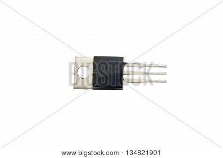 the power transistor on a white background
