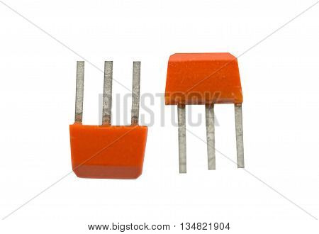Components for electronic devices. Photo isolated on white background