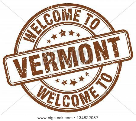 welcome to Vermont stamp. welcome to Vermont.