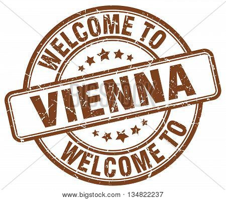 welcome to Vienna stamp. welcome to Vienna.