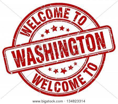 welcome to Washington stamp. welcome to Washington.