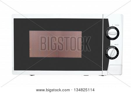 Working microwave oven isolated on a white background
