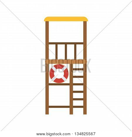 Lifeguard Tower Vector Illustration