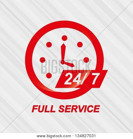 full timeservice design, vector illustration eps10 graphic