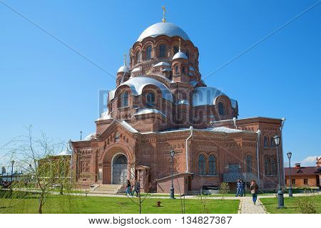 SVIYAZHSK, RUSSIA - MAY 02, 2016: Cathedral of the icon of the Mother of God