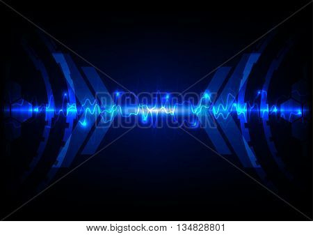 abstract blue light technology concept background.illustration vector design