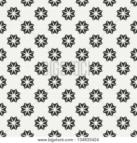 Geometric line monochrome lattice seamless arabic pattern. Islamic oriental style. Wrapping paper. Scrapbook paper. Tiling. White vector illustration. Moroccan background. Graphic texture.