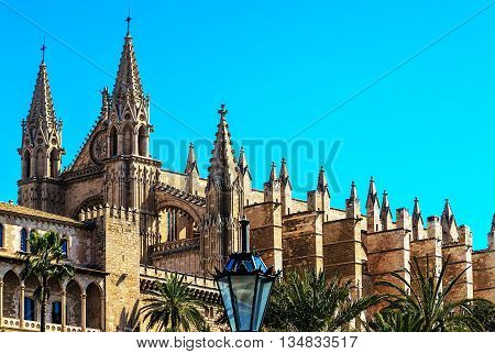 The Cathedral of Santa Maria of Palma, more commonly referred to as La Seu (a title also used by many other churches), is a Gothic Roman Catholic cathedral located in Palma, Majorca, Spain